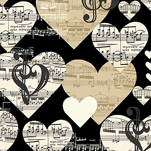 Music Fabric - The Music in Me~Cotton Fabric by Benartex