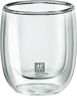 b8785b5f80b ZWILLING J.A. HENCKELS 39500-075 Sorrento Double Wall Espresso Glass- 2  Piece Set,