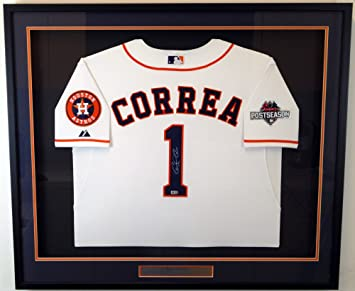 premium selection ca87f aa8c8 Houston Astros Carlos Correa Autographed Framed Authentic ...