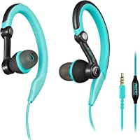 Mucro Wired Stereo In-Ear Running Headphones (Blue)