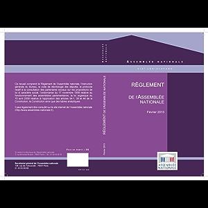 Le Règlement de l'Assemblée nationale et la Constitution de 1958 (French Edition)