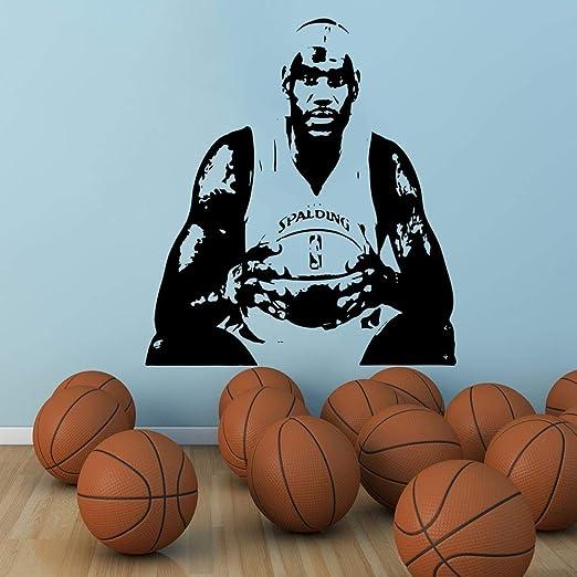 Baloncesto decoración del hogar Famoso Jugador Jersey Plantilla ...