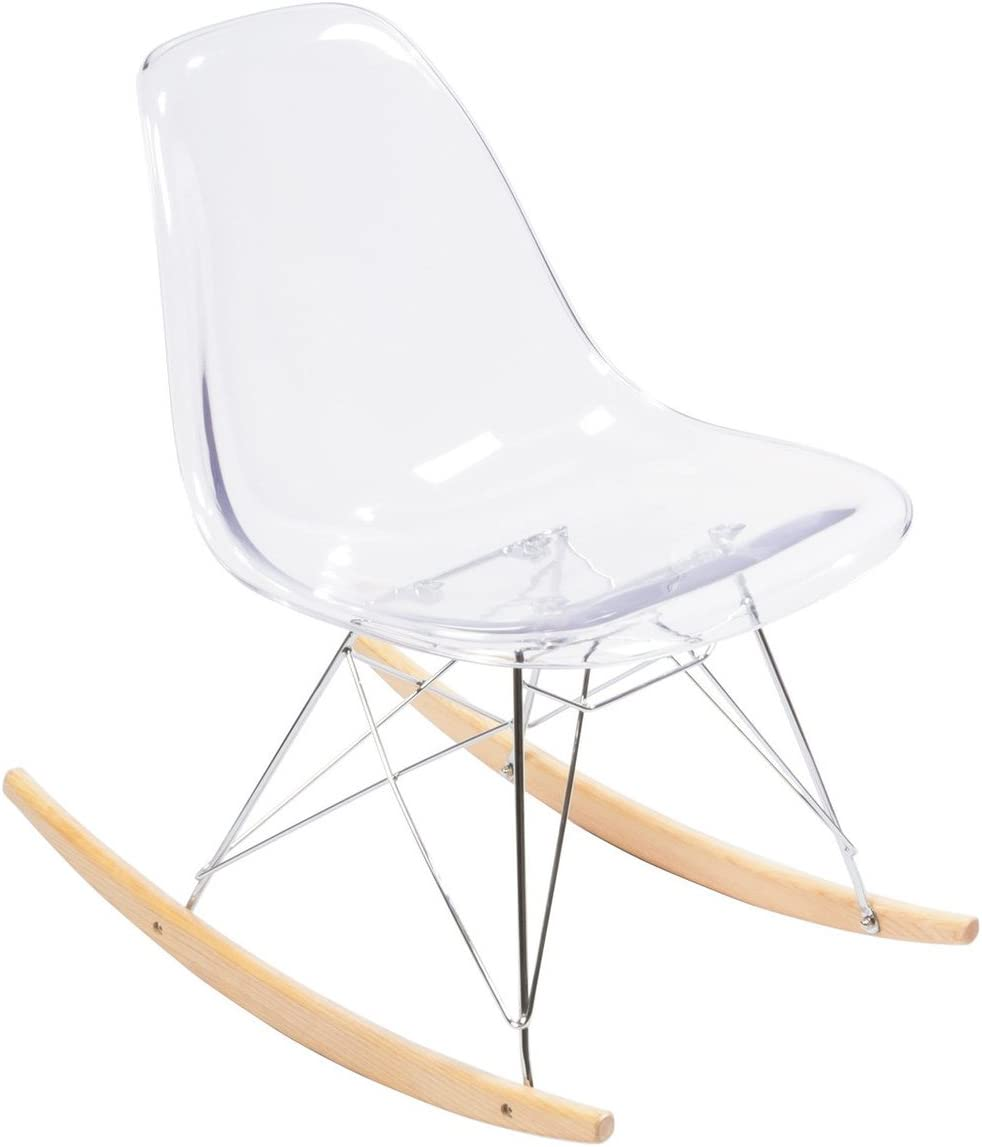 Clear Acrylic Eames Rocking Chair Replica