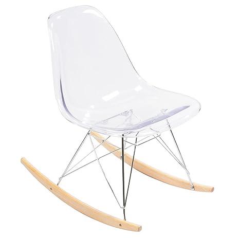 Eames Style Eiffel RAR Clear Armless Rocking Chair