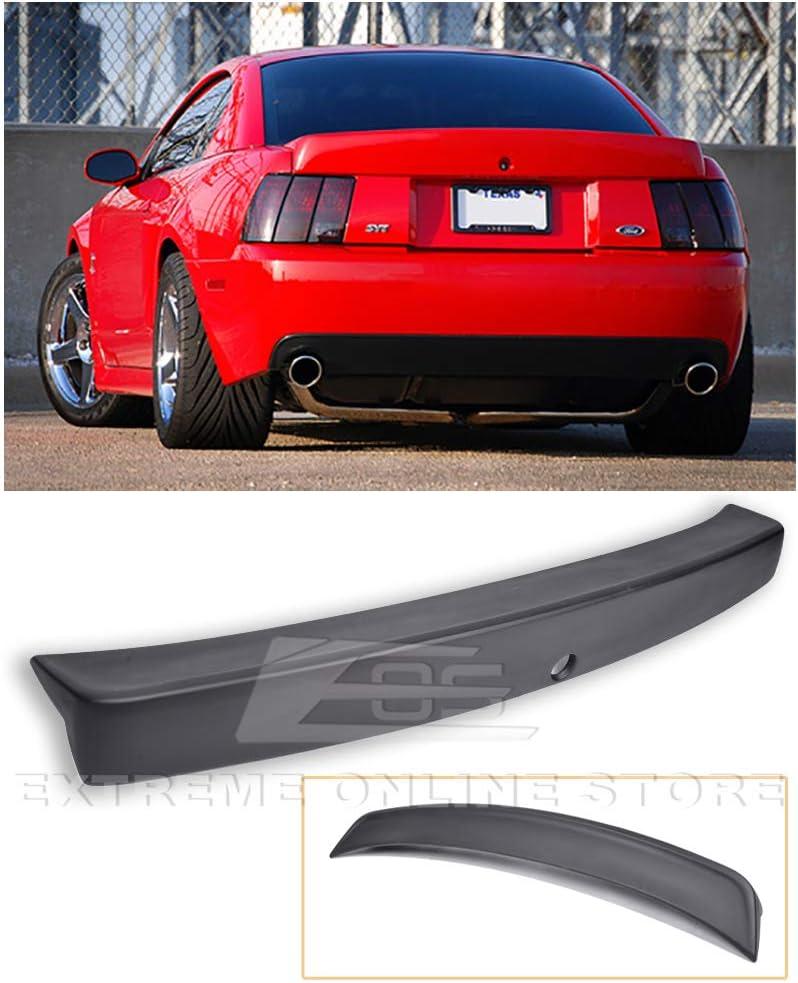 Extreme Online Store for 1999-2004 Ford Mustang Cobra Style Fiberglass Rear Trunk Lid Spoiler Wing Lip W//Brake Light Insert