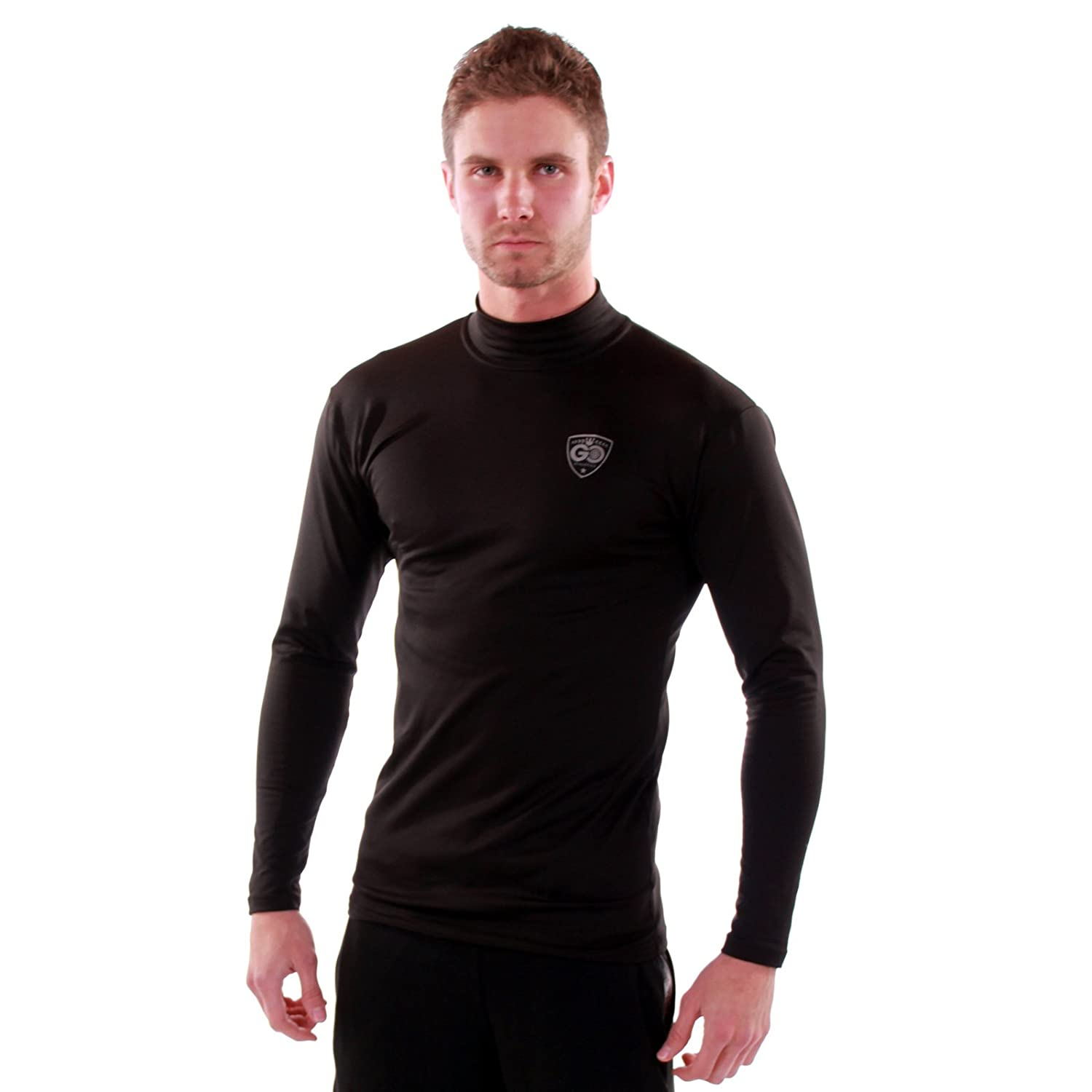 GO Cold Weather Gear Thermal Base Layer Shirt with Mock Neck