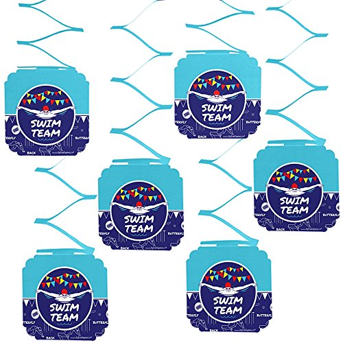 Big Dot of Happiness Making Waves - Swim Team - Swimming Party or Birthday Party Hanging Decorations - 6 Count