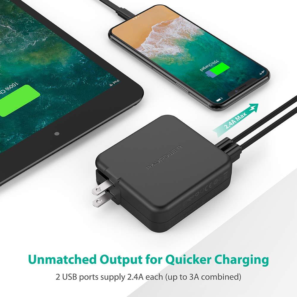 Amazon.com: Cargador portátil AC, RAVPower 6700mAh baterías ...