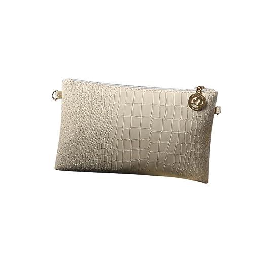 f58c6b0a6 FDelinK Women Fashion Handbag Crocodile Pattern Crossbody Shoulder Bag  Small Tote Ladies Purse (Beige): Clothing