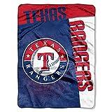 The Northwest Company MLB Texas Rangers Strike Raschel Blanket, 60-Inch by 80-Inch