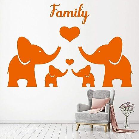 Elefante Familia Vinilo Etiqueta de la pared Guardería Habitación ...