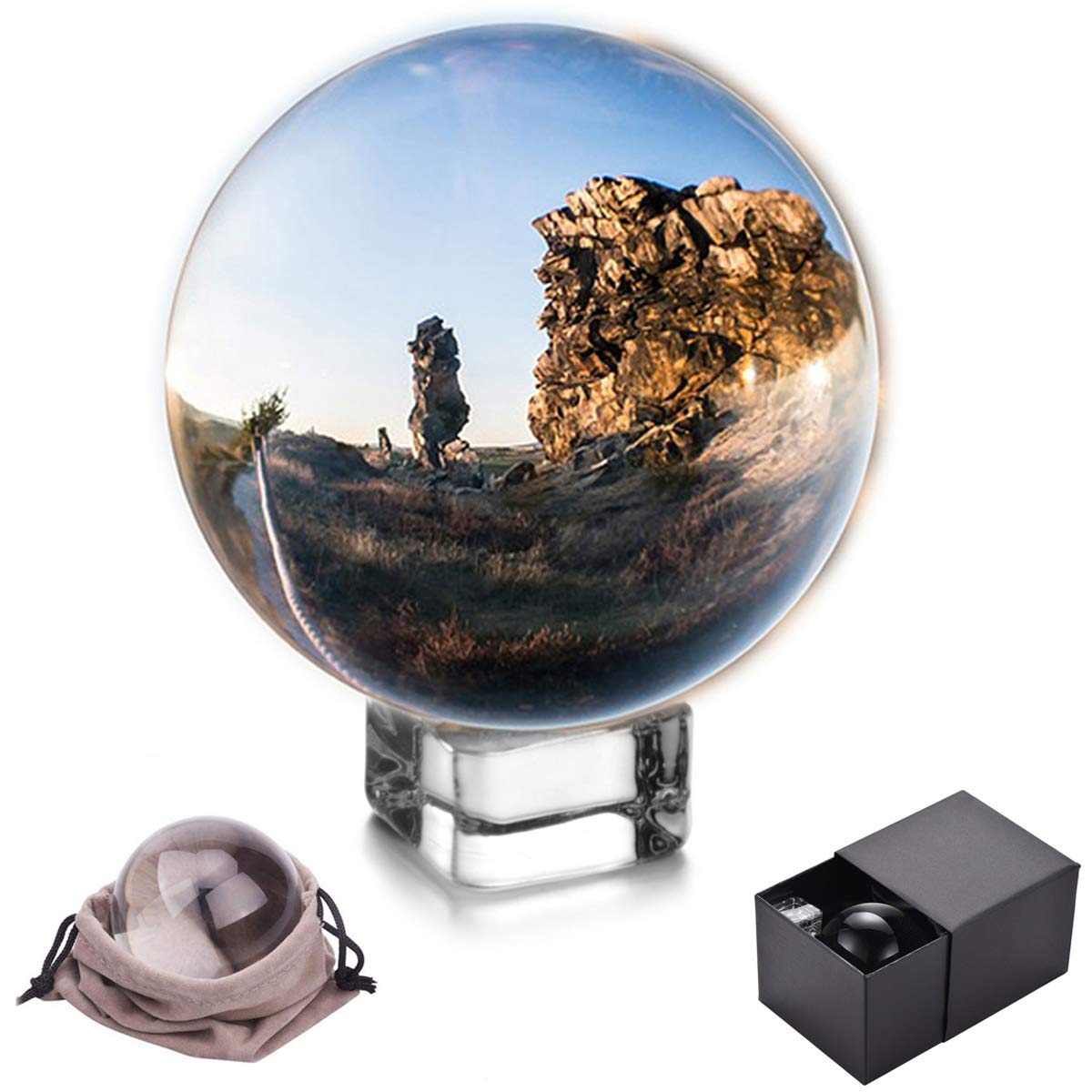 JIHUI Crystal Ball - Crystal Sphere Photography Prop 70mm (2.75 Inch) Clear by JIHUI