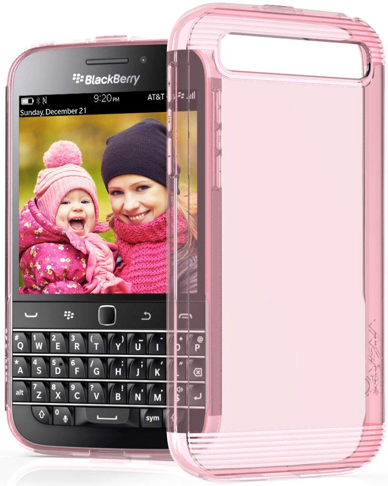 BlackBerry Classic / Q20 Case - VENA [vSkin] Slim Protection [1.0mm Thin] TPU Case Cover for BlackBerry Classic / Q20 (Transparent Pink)