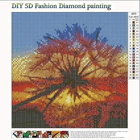 KOTWDQ 2 Pack 5d Diamond Painting Kits for Adults Kids Dandelion 12x12 inch