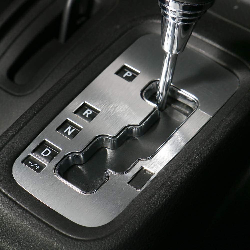 RT-TCZ Gear Shift Panel Decoration Cover Trim Stickers Car Interior Accessories for Jeep Wrangler JK JKU Rubicon Sahara Sport 2//4 Door 2012-2018