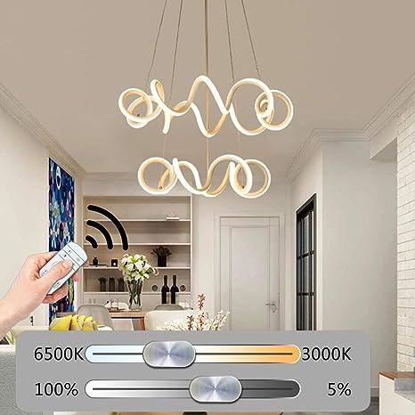 Lámpara colgante LED regulable lámpara de mesa de comedor ...