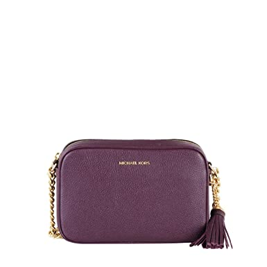 2b71e0e36d8a Image Unavailable. Image not available for. Color  Michael Kors Ginny Medium  Damson Plum Crossbody Bag for Woman ...