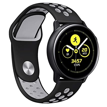 Galaxy Watch Active Bands, Galaxy Watch 42mm Bands, Auswaur 20mm Universal Replacement Strap with Quick Release Pin Compatible with Gear Sport/Garmin ...