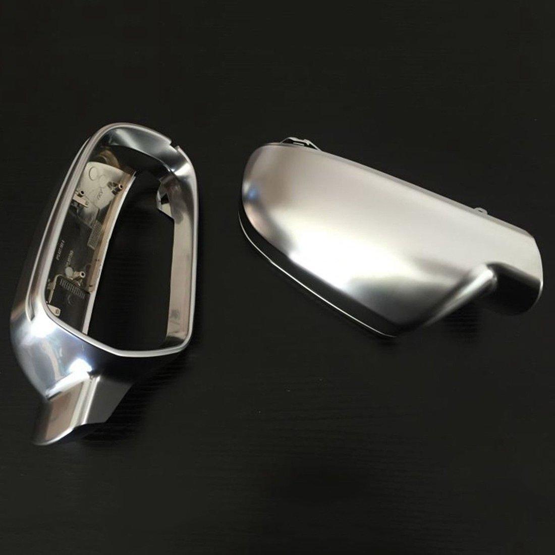 Semoic Matt Chrome Side Mirror Cap Housing//Cover For Audi A4 A5 S4 S5 S-Line L+R