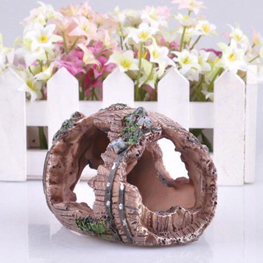 Outflower 1PC Decoración del Acuario Barril de Resina Decorativa Decoración de pecera,9.5*7*5 CM: Amazon.es: Hogar