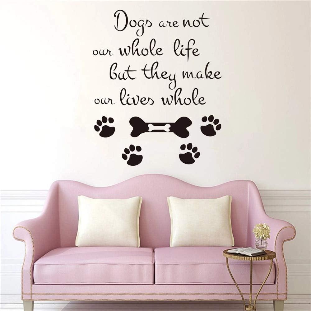 Los perros no son todos nosotros vida pared peluquería de mascotas tienda patas de perro plantas divertidas cactus pegatinas de pared