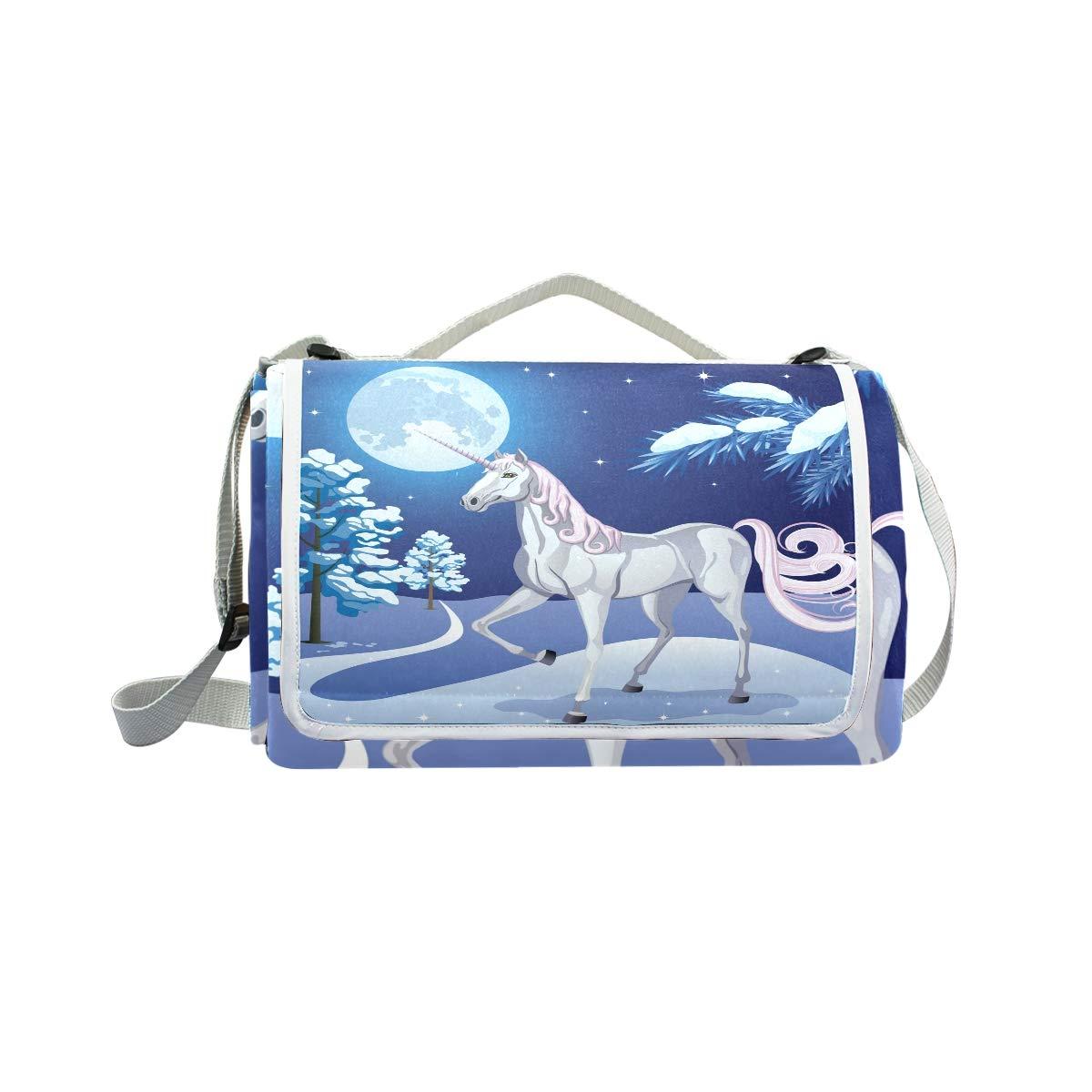 c9ebe578b jeansame - Manta de Picnic Picnic Picnic con dise ntilde o de Unicornio y  Luna