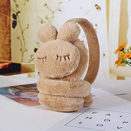 Sodin Practical Winter Warm and Lovely Five Pointed Star Rabbit Plush Children Gift Ears Muff
