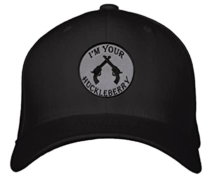 ad2e0bcaf I'm Your Huckleberry Hat - Tombstone Movie Quote Doc Holliday Adjustable  Cap (Black)