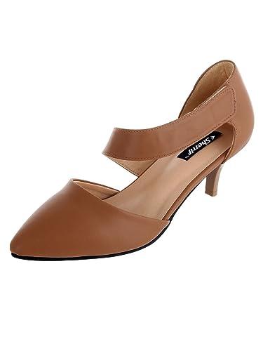 incredible prices retail prices online retailer SHERRIF SHOES TAN Kitten Heel Sandals