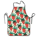Strawberry Patterns Cooking Aprons Chef Apron For Women Men Girl Kids Gifts Kitchen Decorations