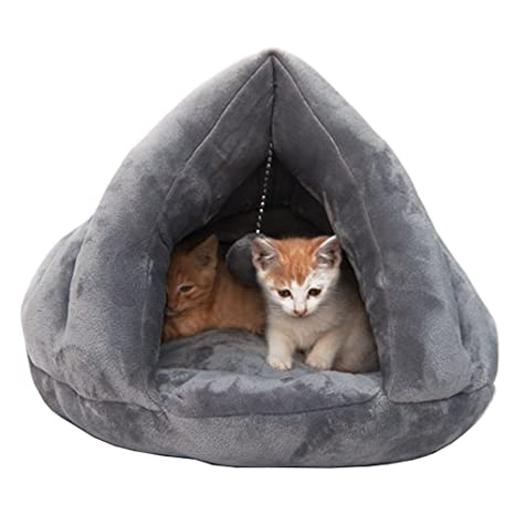 Cama acogedora de lujo del gato, durmiente caliente suave del gatito del invierno (S