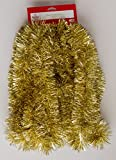 Thick Tinsel Christmas Garland Gold 15