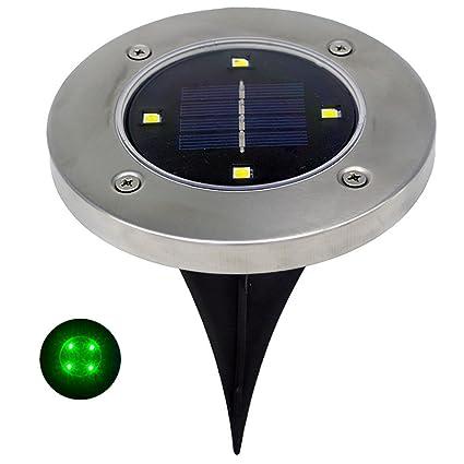 Amazon.com: wotryit LED Energía Solar enterrado lámpara de ...