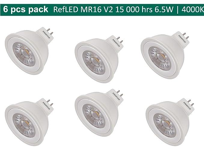 6 x Sylvania RefLED – Bombilla LED MR16 V2 6,5 W (=39