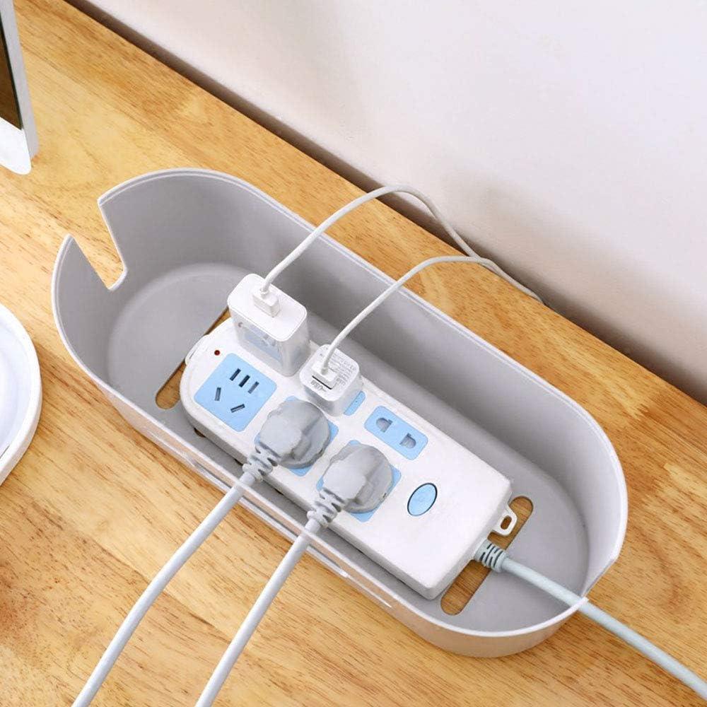 Organizador de Cables concentrador USB TOPmountain Caja de administraci/ón de Cables computadora Cubrir y Ocultar Cables de alimentaci/ón Soporte de Almacenamiento para Escritorio TV