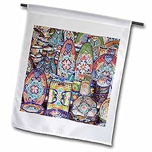 Danita Delimont - Pottery - Mexico, Guanajuato, San Miguel de Allende, Pottery - SA13 RTI0197 - Rob Tilley - 12 x 18 inch Garden Flag (fl_86786_1)