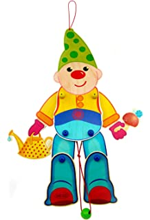 Hampel-Clown Kunterbunt 250 x 370 x 30 NEU Hampelfigur Holzspielzeug