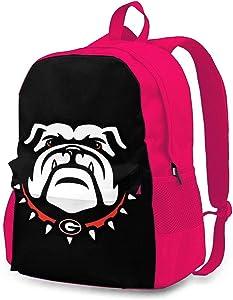 The University Of Georgia Bulldogs Backpack, Durable Shoulder Bag School Bag Laptop Bag Daypack for Adult Student