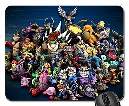 Super Smash Bros Brawl Cast Portrait Mouse Pad, Mousepad (10.2 x 8.3 x 0.12 ()