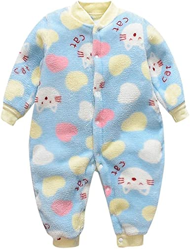 Pijama Bebe 0-18 Meses Mameluco cálido recién Nacido bebé ...