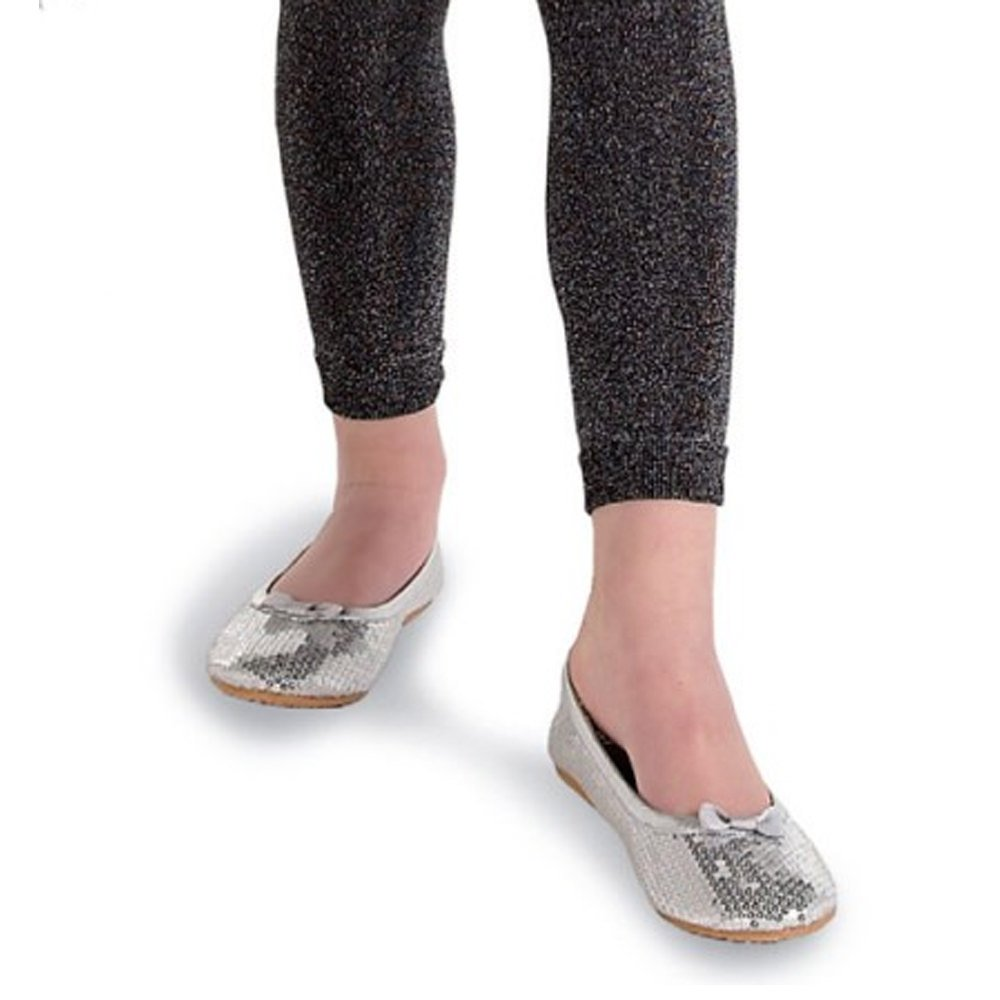 Pack of 2 Country Kids Girls Stretchy Sparkly Glitter Party Footless Leggings Tights
