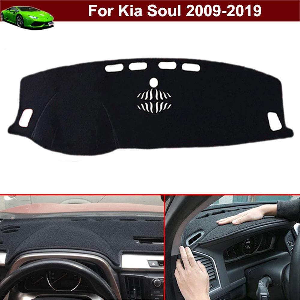 New 1pcs Black Non-Slip Dash Mat Dashboard Mat Dash Carpet Dash Covers Dashboard Cover Custom Fit for Kia Soul 2009 2010 2011 2012 2013 2014 2015 2016 2017 2018 2019