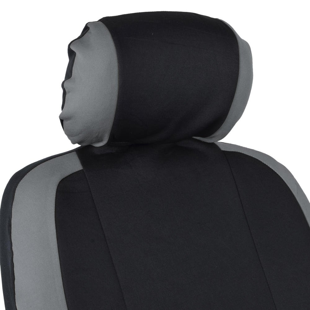Split Bench Function BDK OS-332-RD/_AMCAC Venice Series Car Seat Covers for Auto Red Stripes on Flat Black Cloth Original Cover Protection