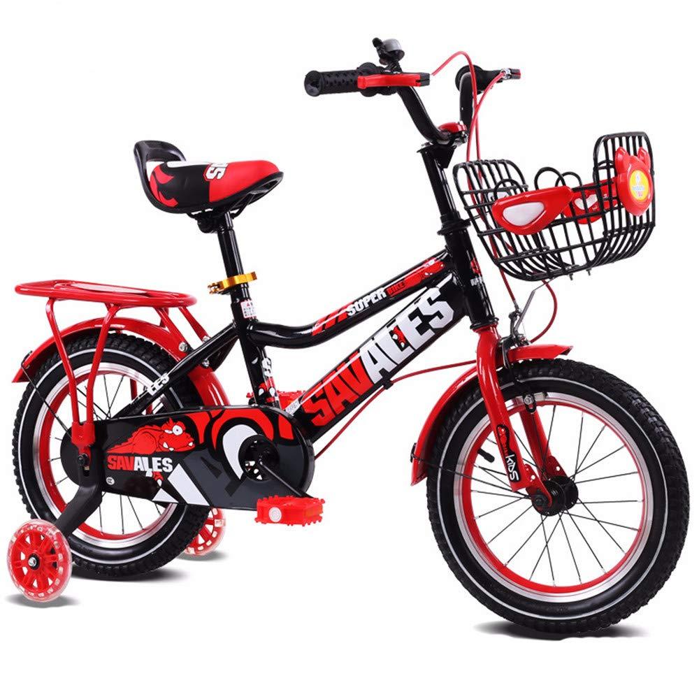 Aszhdfihas Leise Kinder Jungen Gilrs Fahrrad mit Stablizers 12inch Alter 3-5Y Aerobic Übung