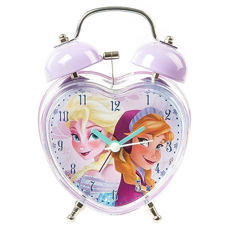 Claire s Accessories Disney Frozen Twin Bell Reloj Despertador en Forma de corazón