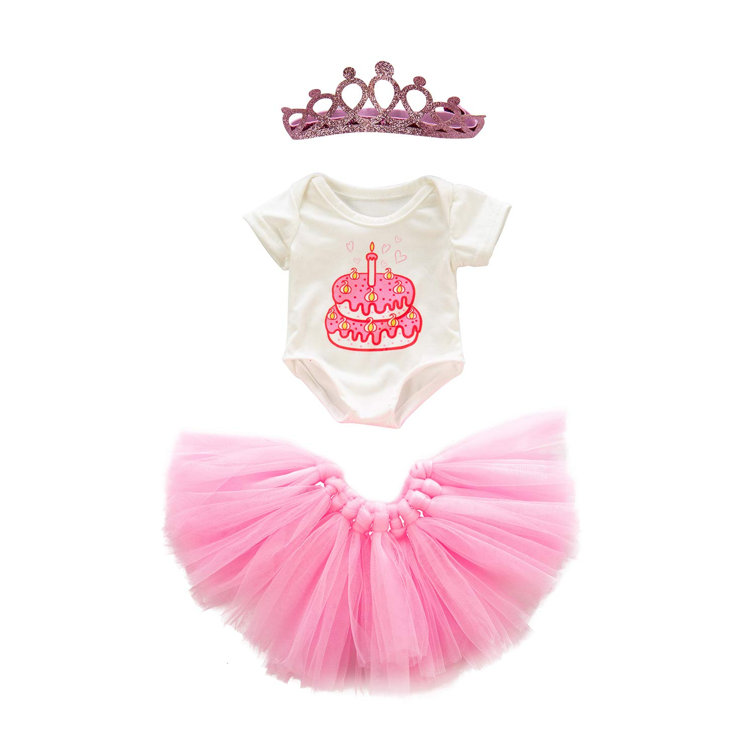 Tutu Dress Jumpsuit ZITA ELEMENT 18 Inch Doll Clothes Outfits Accessories Hairclip for American 18 Inch Girl Doll Hair Clip for 14-16 Inch Baby Doll