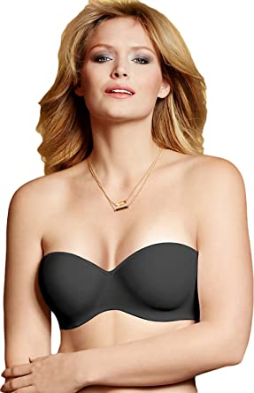 1318abaee99fa Lilyette by Bali Strapless Bra With Convertible Straps Black Tailored 34C
