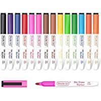 Dry Erase Markers, Shuttle Art 15 Colors Magnetic Whiteboard Markers with Erase,Fine Point Dry Erase Markers Perfect For…
