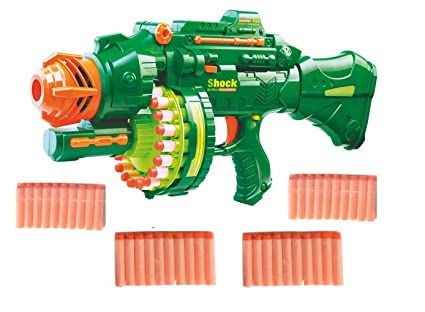 Buy IndusBay® Big Size Rapid Fire Soft Bullet Automatic Blaster Toy