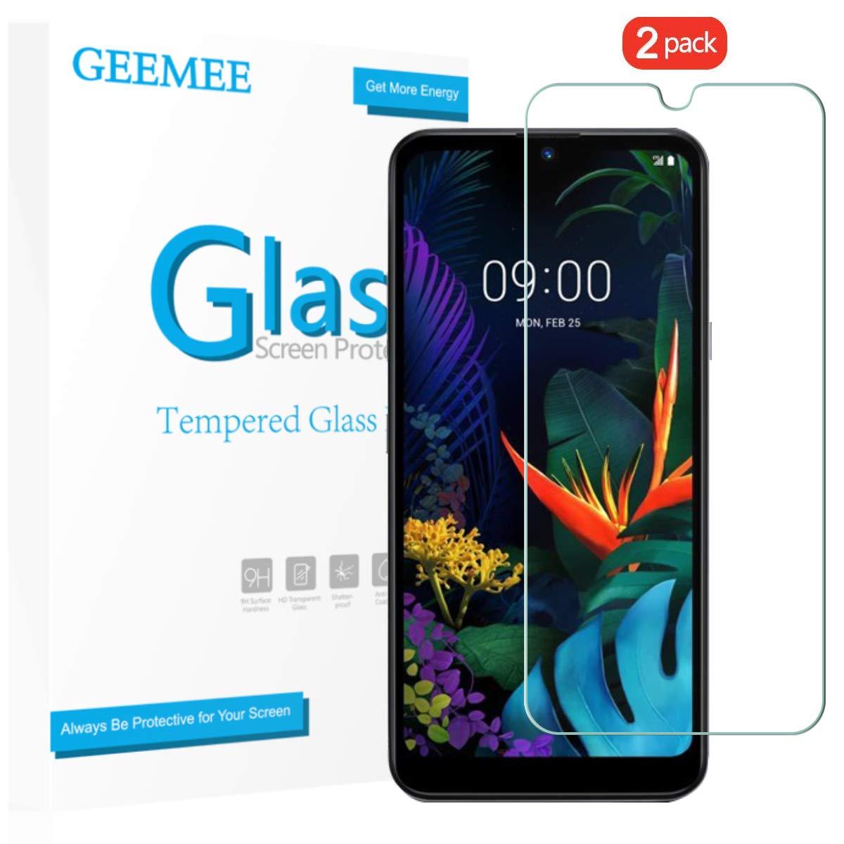 Vidrio Templado para LG Q60 GEEMEE [2 Unidades]